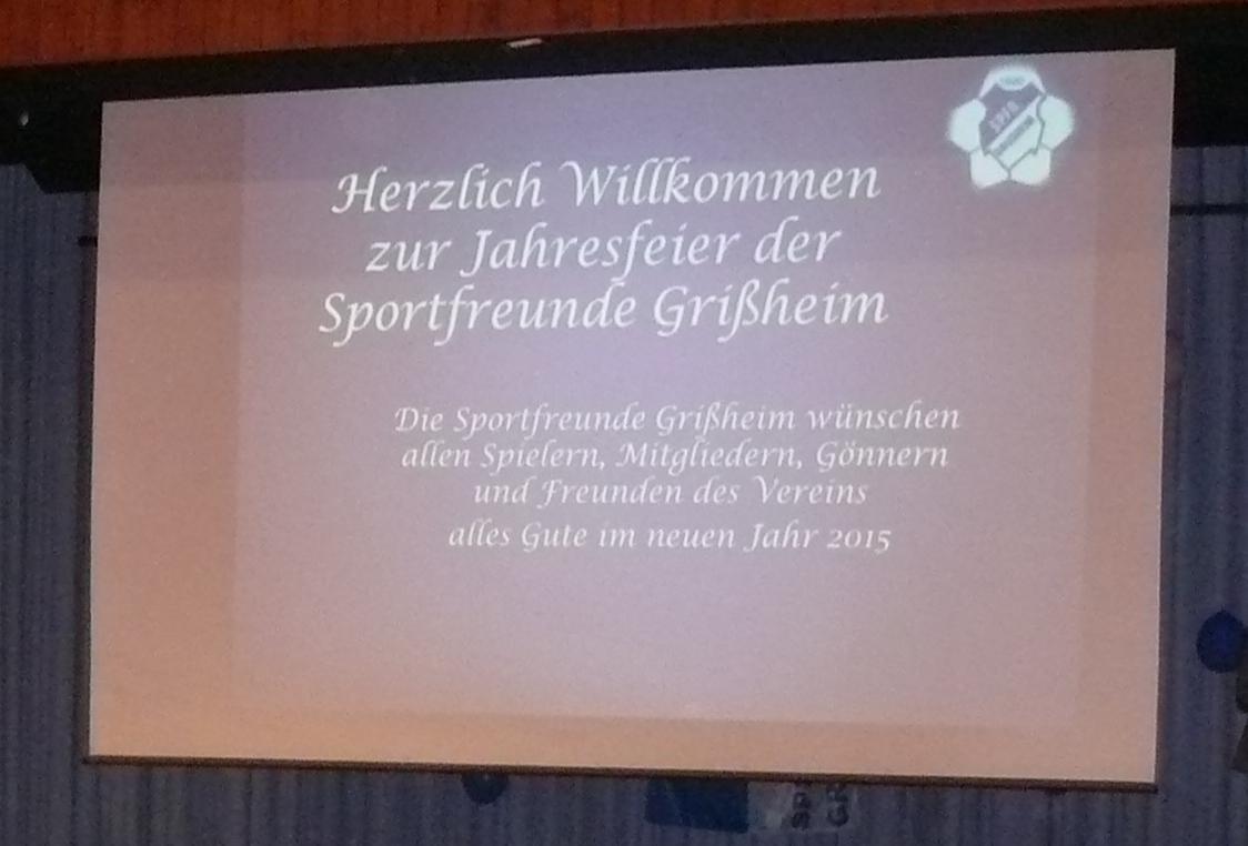 Jahresfeier SFG 2015-Willkommen